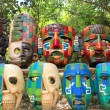 Royalty-Free Stock Photo: Colorful Mayan masks indian culture in Jungle