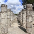 Columns MayChichen ItzMexico ruins in rows — Stock Photo #5282870
