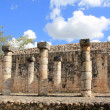 columns mayan chichen itza mexico ruins in rows — Stock Photo #5282871