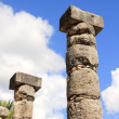 Columns Mayan Chichen Itza Mexico ruins in rows — Stock Photo #5282883