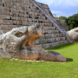 Kukulcan serpent El Castillo Mayan Chichen Itza — Stock Photo
