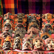 Colorful Mayan masks indian culture in Jungle — Stock Photo