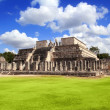 Stock Photo: Chichen ItzWarriors Temple Los guerreros Mexico
