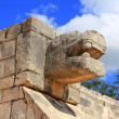 Royalty-Free Stock Photo: Chichen Itza snake Mayan ruins Mexico Yucatan