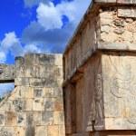 象形文字奇琴伊察玛雅遗址墨西哥 — 图库照片