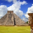 Chichen Itza Tzompantli the Wall of Skulls - Stock Photo