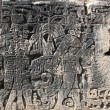 Chichen Itzhieroglyphics maypok-ta-pok ball court — Stock Photo #5282956