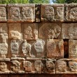 Chichen ItzTzompantli Wall of Skulls MayMexico — Stock Photo #5282965