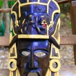 Mayan wood mask with jaguar Yucatan Mexico - Stock Photo