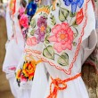 Stock Photo: Maywomdress embroidery YucatMexico