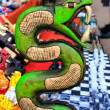 Chichen Itzserpent Maysnake handcraft Mexico — Stock Photo #5282991