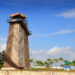 Cancun old airport control tower old wooden — Stock Photo #5283017