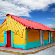 Colorful Caribbean houses tropical Isla Mujeres — Stock Photo #5283043