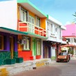 Colorful Caribbean houses tropical Isla Mujeres — Stock Photo #5283044