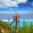 Stock Photo: Caribbezip line tyroleturquoise sea