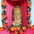 Mexican virgin figure tropical Caribbean Guadalupe - Stock Photo