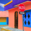 Stock Photo: colorful caribbean houses tropical isla mujeres
