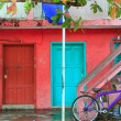 Colorful Caribbean houses tropical Isla Mujeres — Stock Photo #5283074