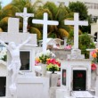 Caribbean cemetery catholic angel saints figures - 