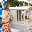 Caribbean cemetery catholic angel saints figures — Stock Photo #5283079