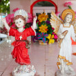 Stock Photo: Caribbecemetery catholic angel saints figures