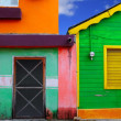 Colorful Caribbean houses tropical Isla Mujeres — Stock Photo #5283086