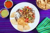 Fajitas de res beef fajita Mexican food — Stock Photo