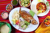 Fried veracruzana grouper fish mexican seafood — Stock Photo