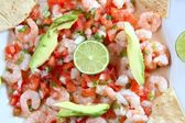 Camaron shrimp ceviche raw seafood salad Mexico — Stock Photo