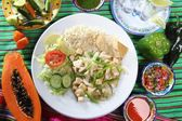 Chicken mojo de ajo garlic sauce mexican chili sauces — Stock Photo