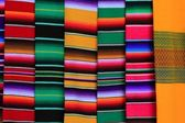 Mexican serape fabric colorful pattern texture — Stock Photo