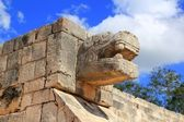Chichen Itza snake Mayan ruins Mexico Yucatan — Stock Photo