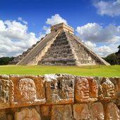 Chichen Itza Tzompantli the Wall of Skulls — Stock Photo