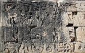 Chichen Itza hieroglyphics mayan pok-ta-pok ball court — Stock Photo