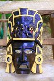 Mayan wood mask with jaguar Yucatan Mexico — Stock Photo