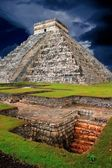 Chichen Itza Kukulcan Mayan Pyramid El Castillo — Stock Photo