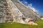 Kukulcan snake Mayan Chichen Itza pyramid Mexico — Stock Photo