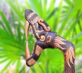 Chichen Itza Snake symbol wood handcraft Mexico — Stock Photo