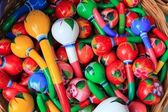 Colorful maracas from Mexico handcraft painted — Stock Photo
