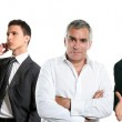 Business team group in a line row isolate — Stock Photo