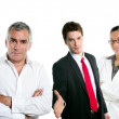 Group of business in a line row isolated — Stock Photo