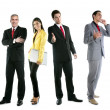 Business team group crowd full length — Stock Photo #5309406