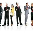 Royalty-Free Stock Photo: Team of business group crowd full length