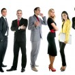 Business team group crowd full length - Stock Photo
