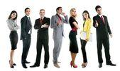 Zakelijke team groep menigte volledige lengte — Stockfoto