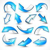 Flechas azules. — Vector de stock