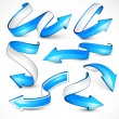 Blue arrows. Vector illustration - Stock Vector