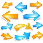Colour arrows — Stock Vector #5172817