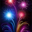 Fireworks — Vector de stock