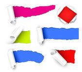 Papel del color — Vector de stock